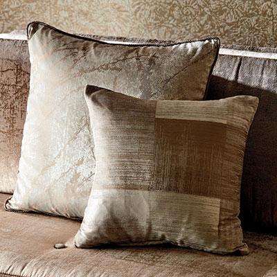 Gold tone cushions