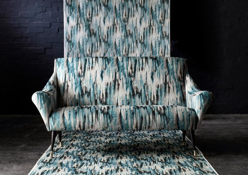 Azuri blue and white fabric