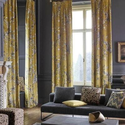 Yellow and grey living room set