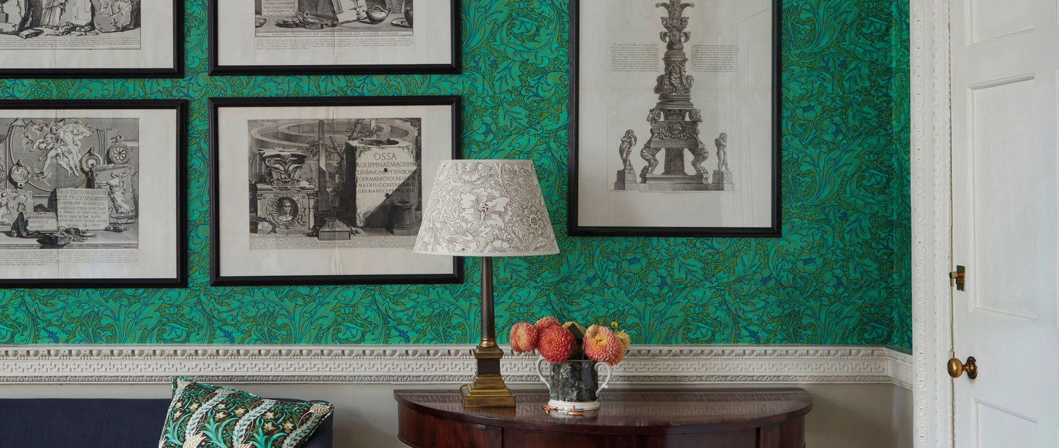 Morris And Co The Queen Square Collection Green Wallpaper