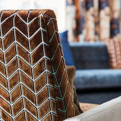 Brown velvet chair