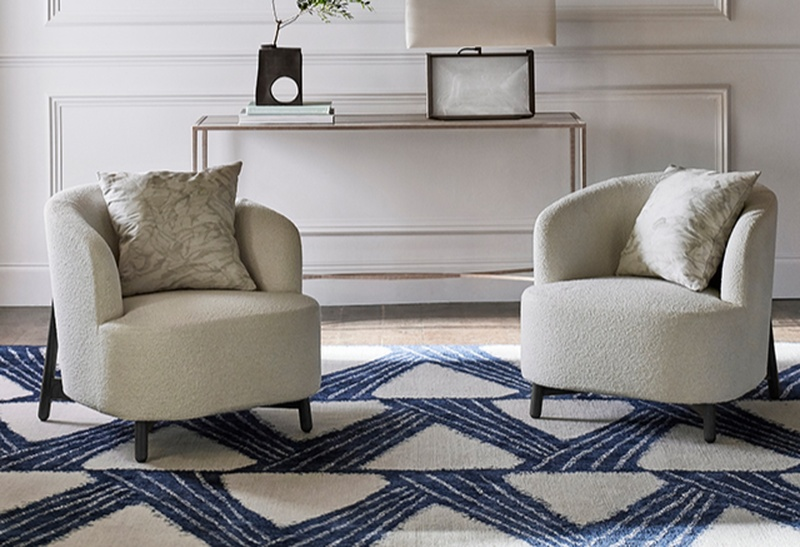 Zoffany Riviere Blue and White Rug