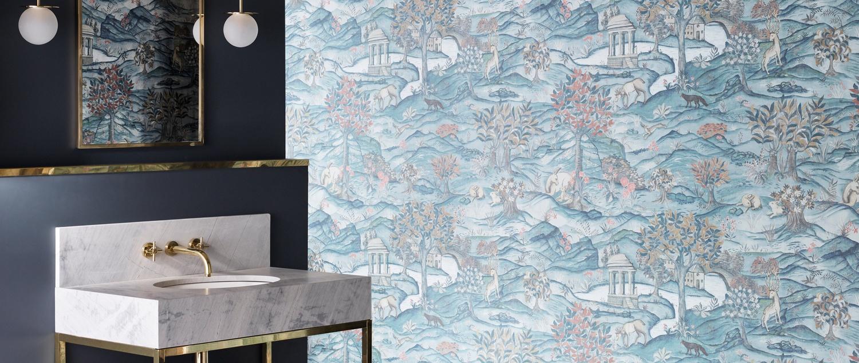 Zoffany Darnley light blue Stanwood Wallpaper