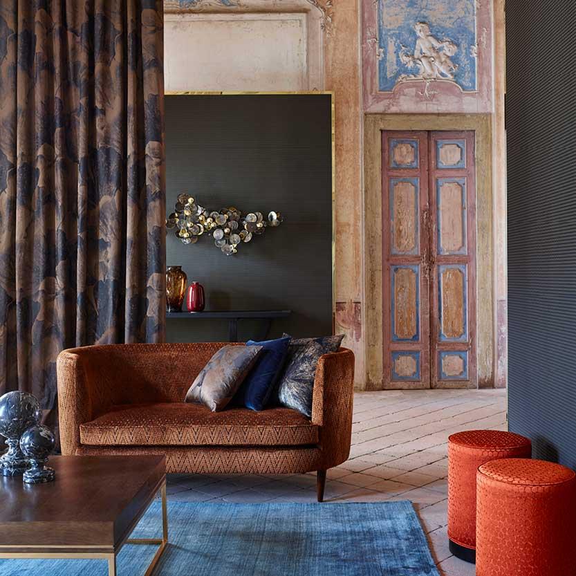 Zoffany Fabrics on Sofa
