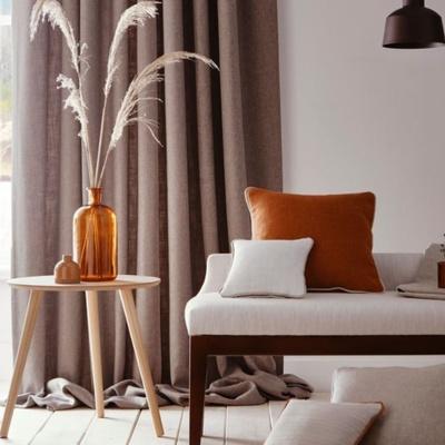White and orange interiors in lounge