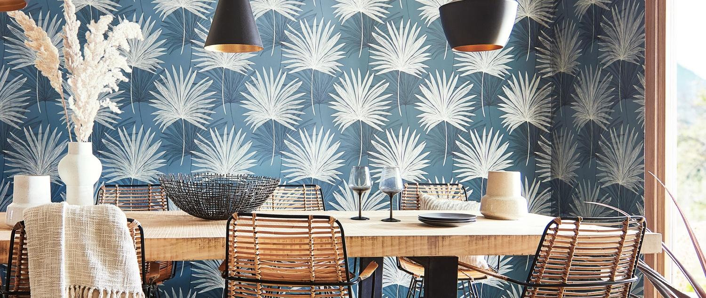 Blue and white Mirador Wallpaper