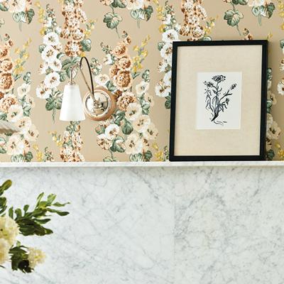 Hollyhocks Wallpaper