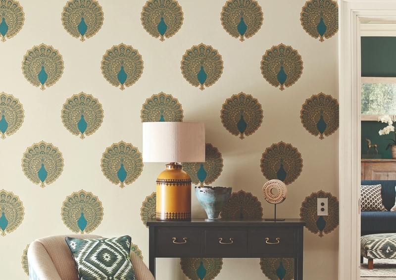 Sanderson 2019 Caspian 59 Kalapi Wallpaper in Hallway