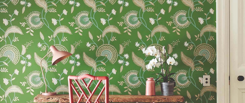 Sanderson 2019 Caspian 12 Hakimi Green Wallpaper