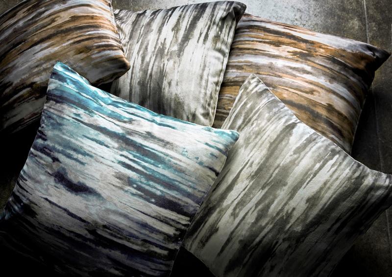 Azuri mix of blue, green, orange and grey cushions