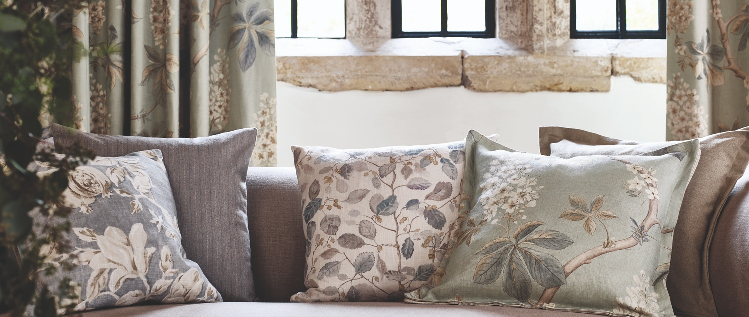 Chestnut Tree Fabric Cushion Detail