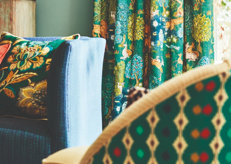 Sanderson 2019 Caspian 64 Mossi Green Fabric