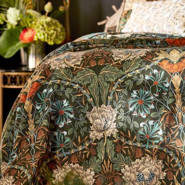 Honeysuckle and Tulip Velvet by Morris & Co