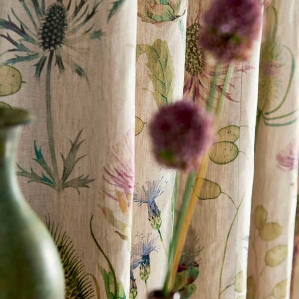 Thistle Garden Linen by Sanderson