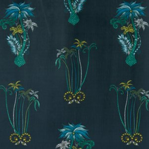 Jungle Palms Velvet by Clarke & Clarke