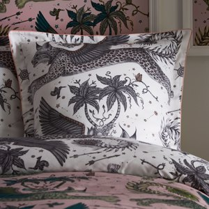 Lynx 65X65 Square Piped Pillowcase by Clarke & Clarke