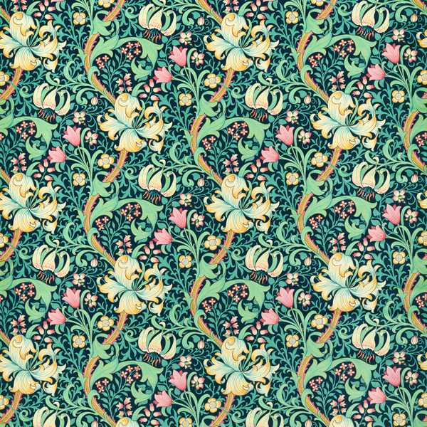 Golden lily Fabric by Archive