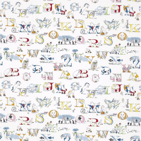 Alphabet Zoo Embroidery by Sanderson